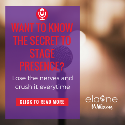 Want to know the secret to stage presence?
